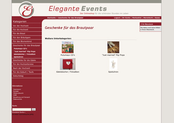 Onlineshiop Kiel: Elegante Events